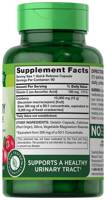 Cranberry Concentrate  15,000 mg**